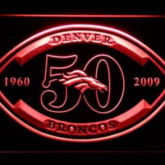 Denver Broncos 50th Anniversary - Legacy Edition neon sign LED