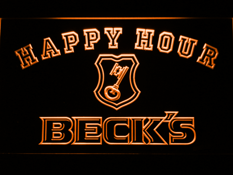 Beck's Happy Hour neon sign LED