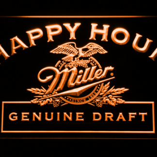 Miller Genuine Draft Happy Hour neon sign LED