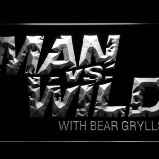 Man vs Wild with Bear Grylls neon sign LED