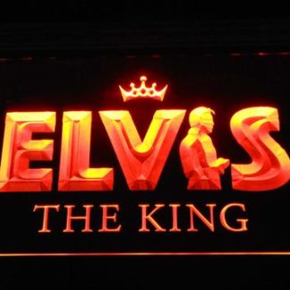 Elvis Presley The King neon sign LED