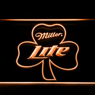Miller Lite Shamrock neon sign LED