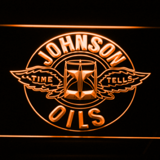 Johnson Motor Oils neon sign LED