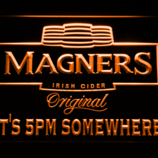 Magners It's 5pm Somewhere neon sign LED