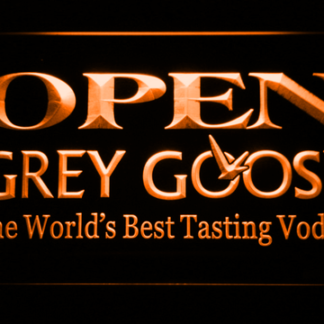 Grey Goose Open neon sign LED