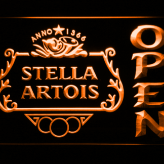 Stella Artois Crest Open neon sign LED