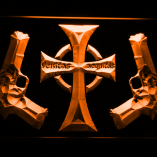 Boondock Saints Guns and Cross neon sign LED