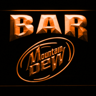 Mountain Dew Bar neon sign LED
