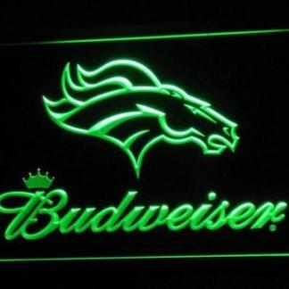 Denver Broncos Budweiser neon sign LED