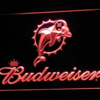 Miami Dolphins Budweiser neon sign LED
