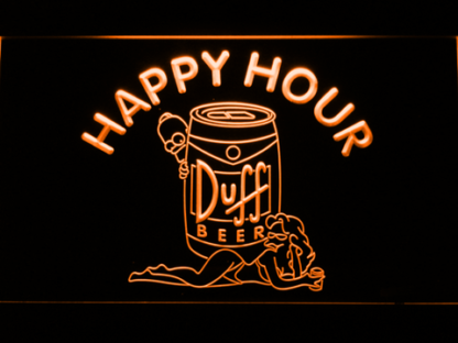 Duff Simpsons Happy Hour neon sign LED