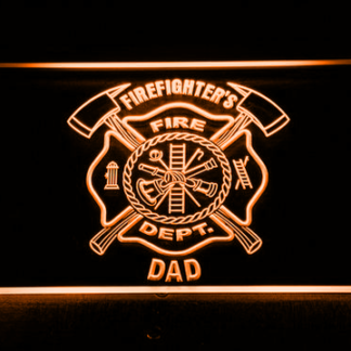 Fire Department Firefighter's Dad neon sign LED