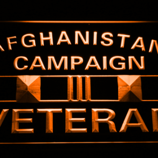 US Armed Forces  Afghanistan Campaign Veteran neon sign LED