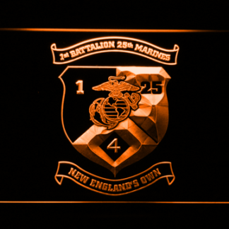 US Marine Corps 1st Battalion 25th Marines neon sign LED