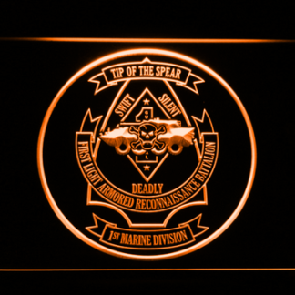 US Marine Corps 1st Light Armored Recon Battalion neon sign LED