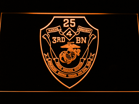 US Marine Corps 3rd Battalion 25th Marines neon sign LED