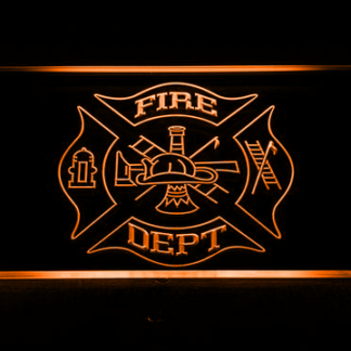 Fire Department neon sign LED