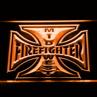 Fire Fighter Mid West neon sign LED