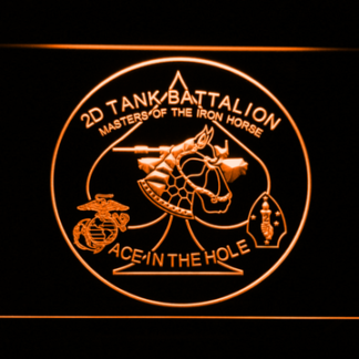 US Marine Corps 2nd Tank Battalion neon sign LED