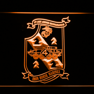 US Marine Corps 4th Light Armored Recon Battalion neon sign LED