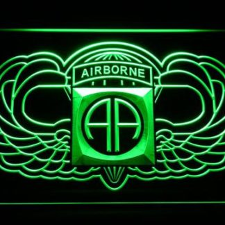 US Army 82nd Airborne Division Wings neon sign LED