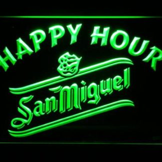 San Miguel Happy Hour neon sign LED