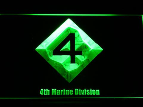 US Marine Corps 4th Marine Division neon sign LED