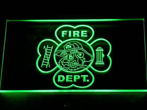 Fire Department Fighting Irish Face neon sign LED