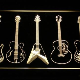 Guitar neon sign LED