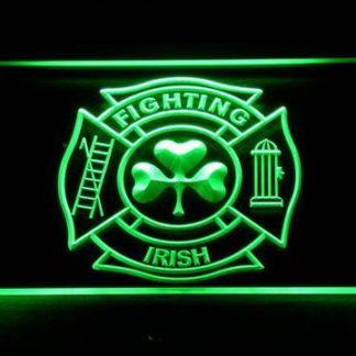 Fire Department Shamrock neon sign LED