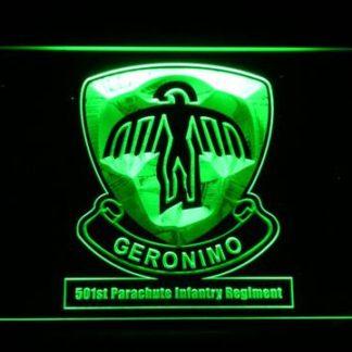 US Army 501st Parachute Infantry Regiment neon sign LED