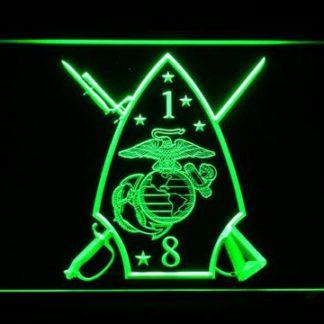 US Marine Corps 1st Battalion 8th Marines neon sign LED
