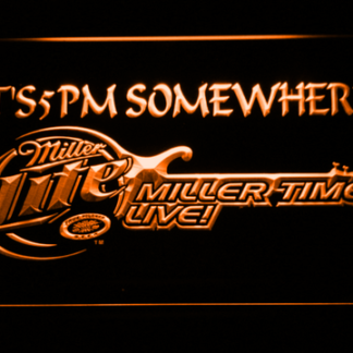 Miller Lite Miller Time It's 5pm neon sign LED