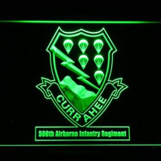 US Army 506th Airborne Infantry Regiment neon sign LED