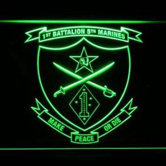 US Marine Corps 1st Battalion 5th Marines neon sign LED