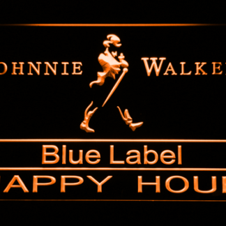 Johnnie Walker Blue Label Happy Hour neon sign LED