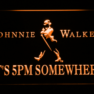 Johnnie Walker It's 5pm Somewhere neon sign LED