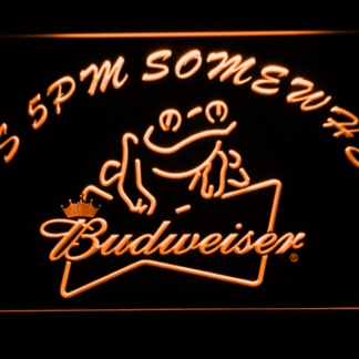 Budweiser Frog It's 5pm Somewhere neon sign LED