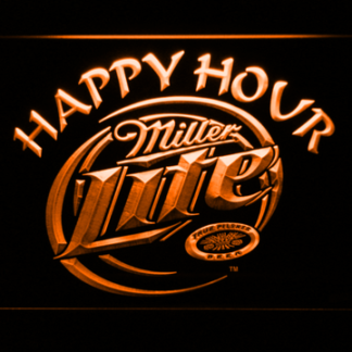 Miller Lite Happy Hour neon sign LED