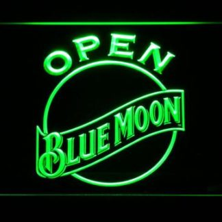 Blue Moon Open neon sign LED