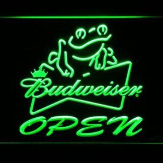 Budweiser Frog Open neon sign LED