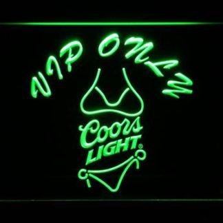 Coors Light Bikini VIP Only neon sign LED