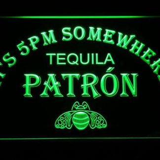 Patron It's 5pm Somewhere neon sign LED
