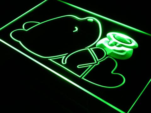 Disney Babies  Winnie The Pooh with Honey Jar neon sign LED
