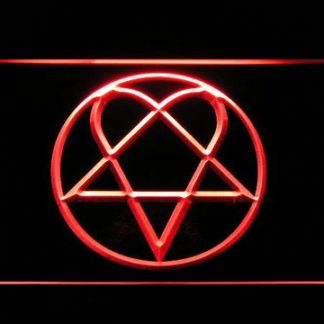HIM Heartagram neon sign LED