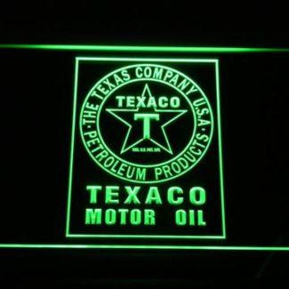 Texaco Motor Oil neon sign LED