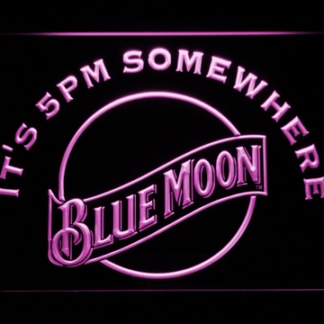 Blue Moon It's 5pm Somewhere neon sign LED