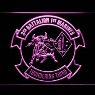 US Marine Corps 3rd Battalion 1st Marines neon sign LED