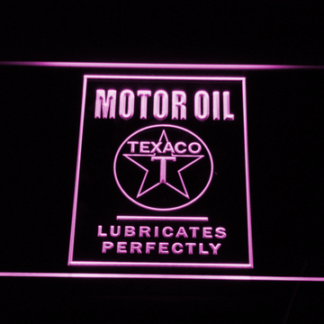 Texaco Motor Oil - Lubricates Perfectly neon sign LED