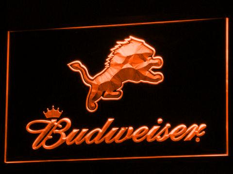 Detroit Lions Budweiser neon sign LED